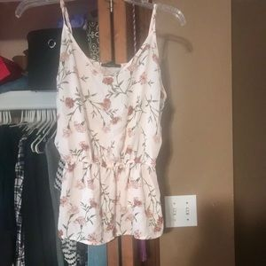 Forever 21 floral tank top